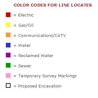 Color Codes for Line Locates